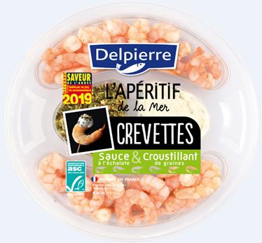 DELPIERRE, L'apéritif de la mer - Crevettes, sauce & croustillant